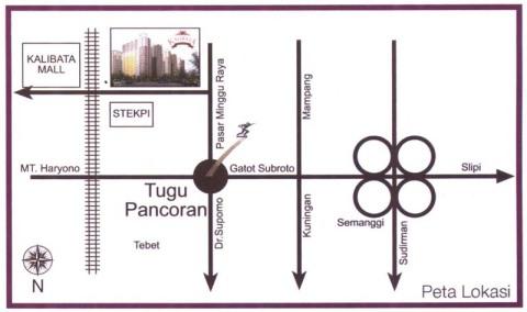 Peta Lokasi Apartemen Green Palace