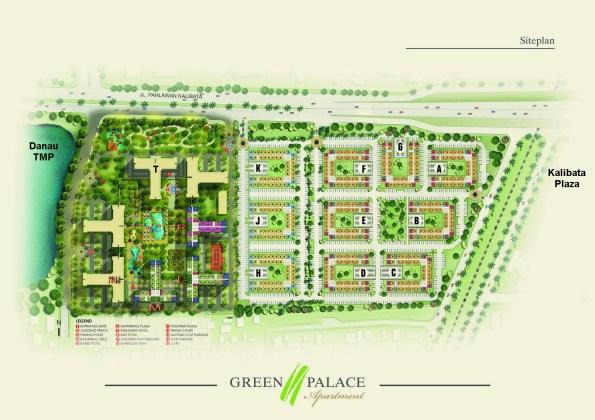 apartemen kalibata city blok plan